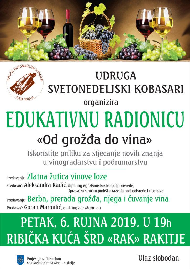 "Edukativna radionica ""Od grožđa do vina"""