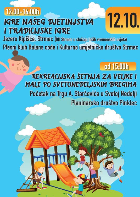 Tradicijske igre, Igre našeg djetinjstva, Rekreacijska šetnja za velike i male po Svetonedeljskim Bregima