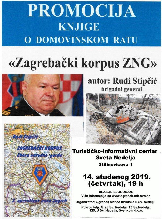 "Predstavljanje knjige ""Zagrebački korpus ZNG"" generala Stipčića"